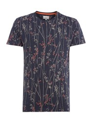 Linea Limited Edition All Over Floral Print T Shirt Navy