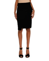 Tom Ford Stretch Velvet Pencil Skirt Black