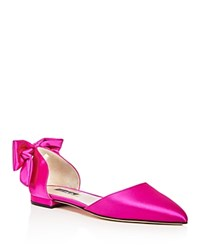 Sarah Jessica Parker Sjp By Awaken Satin D'orsay Pointed Toe Flats 100 Exclusive Candy Pink