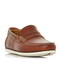 Barbour Keel Casual Penny Loafer Shoes Tan