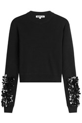 Mcq By Alexander Mcqueen Wool Pullover With Sequin Embellishment Black