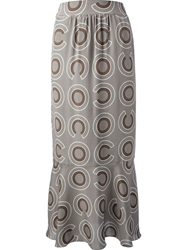 Chanel Vintage High Waisted Skirt Grey