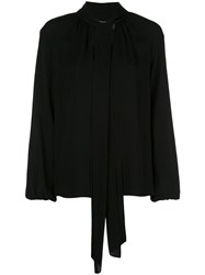 Theory Crepe Blouse Black