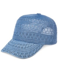 Inc International Concepts Crochet Packable Baseball Cap Only At Macy's Chambray