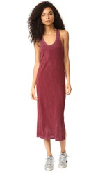 Cotton Citizen The Mykonos Midi Dress Burgundy