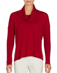 Eileen Fisher Long Sleeve Woolen Top China Red
