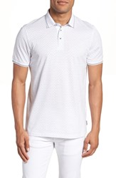 Ted Baker London Abot Trim Fit Print Polo White