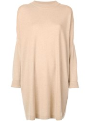 Dusan Oversized Draped Sweater Neutrals