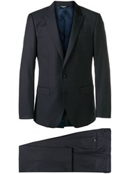 Dolce And Gabbana Slim Fit Dinner Suit Blue