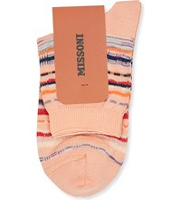 Missoni Striped Short Ankle Socks Tan 001