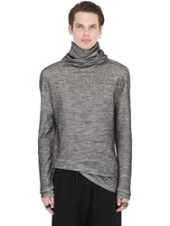 Isabel Benenato Wool And Cotton Japanese Jersey Sweatshirt