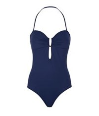 Elizabeth Hurley Mercury Bandeau Swimsuit Royal