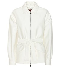 Moncler Gamme Rouge Grand Sandy Cotton And Silk Jacket White