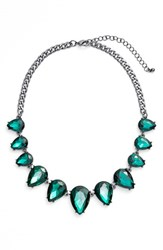 Women's Tasha Statement Necklace Hematite Emerald Green