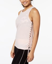 Material Girl Active Juniors' Lace Up Tank Top Created For Macy's Pure Pink