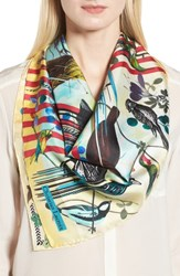 Christian Lacroix Sinfonia Silk Square Scarf Turquoise