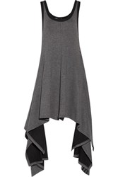 Y 3 Adidas Draped Stretch Cotton And Modal Blend Jumpsuit Anthracite