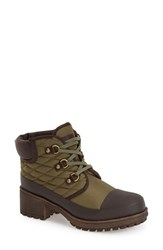 Women's Lucky Brand 'Akonn' Weather Resistant Lace Up Rain Boot 2' Heel