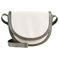 Jaeger Leather Canvas Across Body Bag Ivory