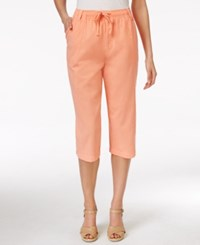 Karen Scott Drawstring Capri Pants Only At Macy's Coral Blaze