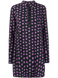 Essentiel Antwerp Floral Print Shirt Dress Black