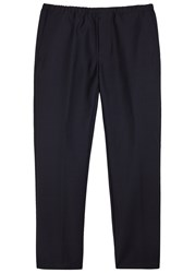 Acne Studios Ari Who Navy Wool Blend Trousers