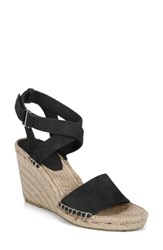Via Spiga Nevada Espadrille Wedge Sandal Black Suede