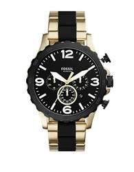 Fossil Nate Stainless Steel Bracelet Watch Two Tone