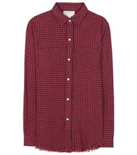 Current Elliott The Two Pocket Prep School Cotton Knitted Shirt Red