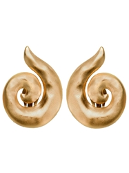 Yves Saint Laurent Vintage Spiral Earrings Metallic