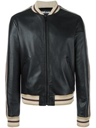 Just Cavalli Zipped Leather Jacket Black