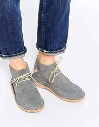 Park Lane Fleece Suede Desert Boots Grey