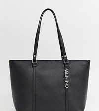 Valentino By Mario Valentino Crosshatch Tote Bag In Black