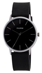 Pilgrim Pretty Silver Plated And Black Watch Black
