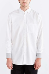 Zanerobe Seven Foot Rib Cuff Button Down Shirt White