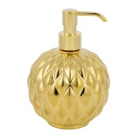 Villari Black Tie Round Soap Dispenser Gold