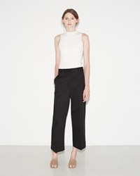 3.1 Phillip Lim Cropped Wide Leg Trouser Black