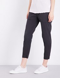 James Perse Relaxed Fit Stretch Cotton Trousers Carbon