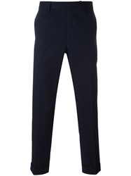Gucci Slim Fit Chino Trousers Blue