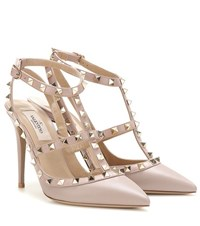Valentino Rockstud Leather Pumps Pink