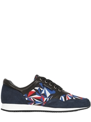 United Nude Nappa Suede Printed Neoprene Running Red Blue