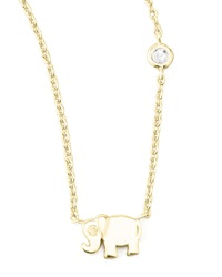 Shy By Sydney Evan Elephant Pendant Bezel Diamond Necklace Gold