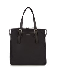 Burberry Leather Trim Nylon Tote Black