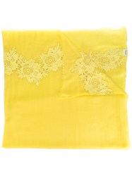 P.A.R.O.S.H. Lace Trim Scarf Yellow Orange