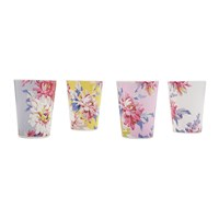 Joules Beau Floral Beakers Set Of 4 Whitstable Floral