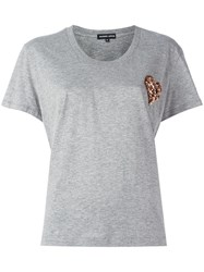 Markus Lupfer Sequin Flower Heart Dani T Shirt Grey