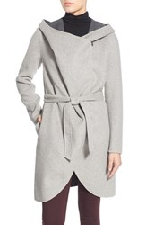 Soia And Kyo Women's Reversible Double Face Hooded Wrap Jacket Ash Storm