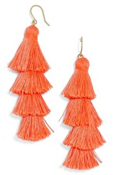 Baublebar Women's Gabriela Fringe Earrings Coral