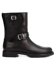 Saint Laurent Biker Boots Black