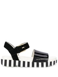 Emporio Armani Striped Sole Sandals Black